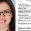 Katie Simon logró confeccionar el currículum