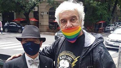 Norberto Oyarbide junto al Coco Sily.