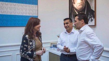 Ramón Rioseco y su compañero de fórmula, Darío Martínez, estuvieron reunidos con Cristina Kirchner
