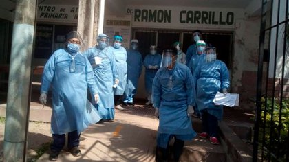Médicos y enfermeros enviados por la Nación a Jujuy el mes pasado