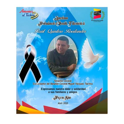 Teniente coronel Raúl Roilander Quintero, uno de los oficiales caídos