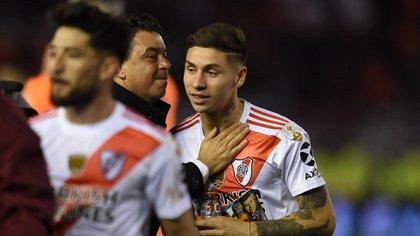 Gonzalo Montiel se convirtió en pieza clave para Marcelo Gallardo (Foto Baires)