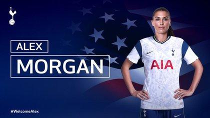 Oficial: Alex Morgan ficha por el Tottenham