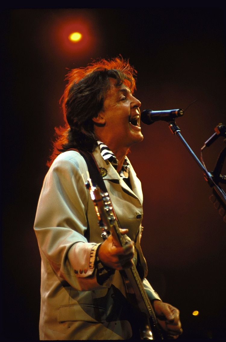 Musician Paul McCartney performing. (Photo by Time Life Pictures/DMI/The LIFE Picture Collection/Getty Images)