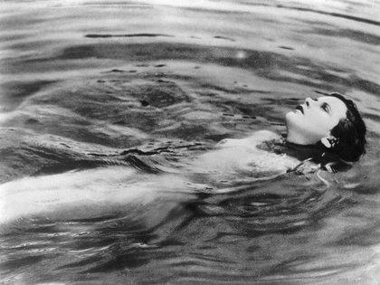 Hedy Lamarr en su famoso desnudo en la película Extasis, de 1932.