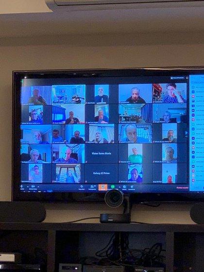 Los dirigentes de la CGT estuvieron conectados de manera virtual