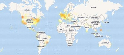 Mapa de DownDetector
