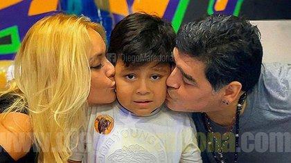 Verónica Ojeda y Diego Maradona celebraron los seis años de Dieguito Fernando en México (Instagram: @maradona)
