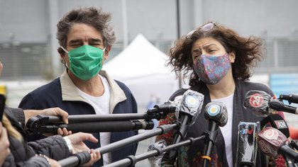 Fernán Quirós (ministro de Salud de la ciudad de Buenos Aires) y Carla Vizzotti (ministra de Salud de la Nación)