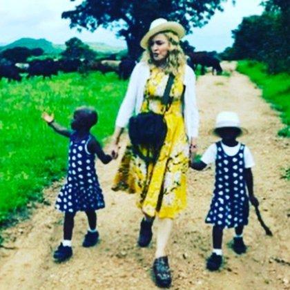 Madonna compartió una foto en Instagram tras confirmarse la adopción de sus nuevas hijas gemelas