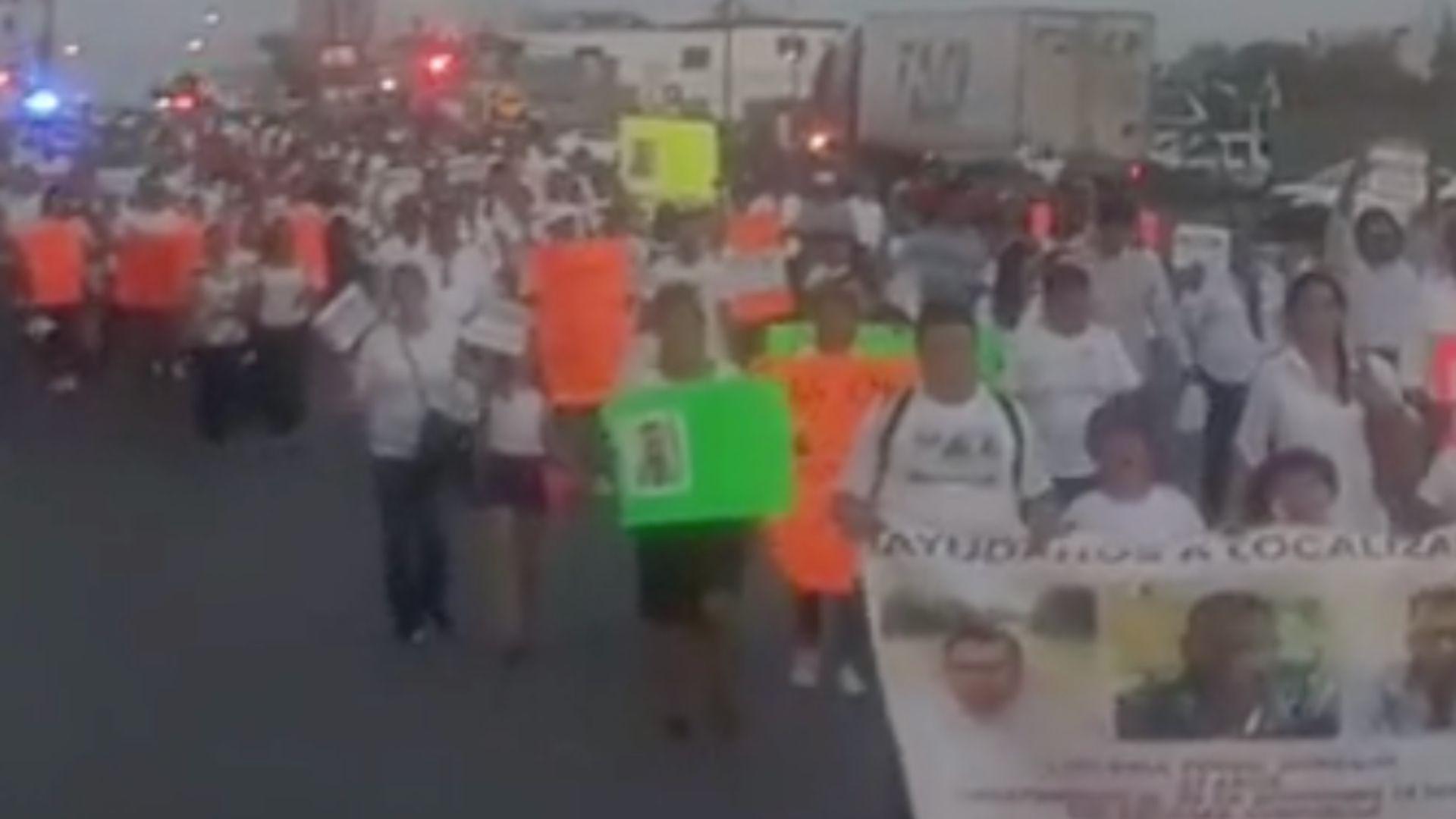Familiares de desaparecidos también se unieron al pedido de justicia de la familia Ronquillo Hernández (Foto: Especial)