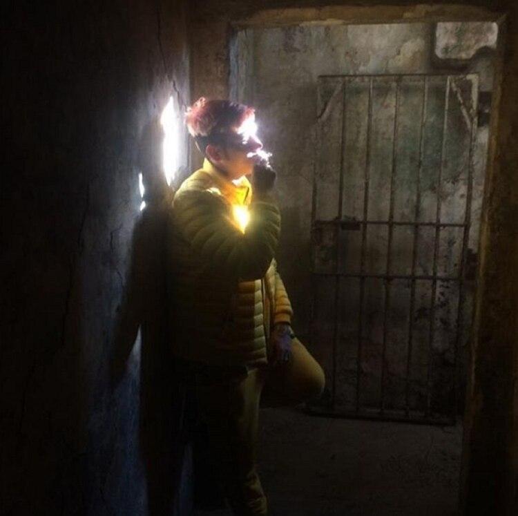 La foto que publicó Duki en las redes en la cárcel de San Onofre (Instagram)