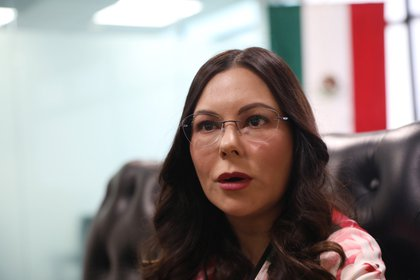 Laura Rojas del PAN criticó que le dieran facultades regulatorias a la Conadic y no a Cofepris, que tiene experiencia en el tema (Foto: Sáshenka Gutiérrez/ EFE)