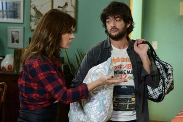 """Pablo Rago con Nancy Duplaa, en una escena de """"100 días para enamorarse"""""""