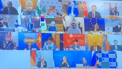 Los ministros de Relaciones Exteriores de los países del G20 se reunieron en video conferencia para discutir la cooperación internacional ante la pandemia de COVID-19. (Foto: SRE)