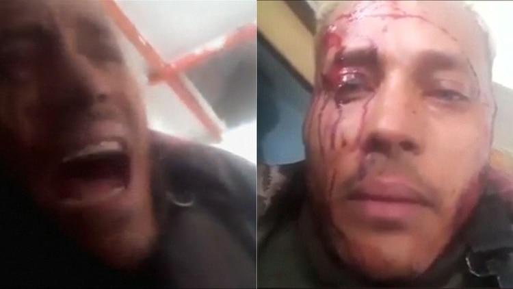 �scar Pérez antes de serejecutado por el régimen chavista
