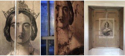 Retrato de la joven reina Victoria encontrado en una de las ventanas Foto: (Instagram plaus.uchaf)