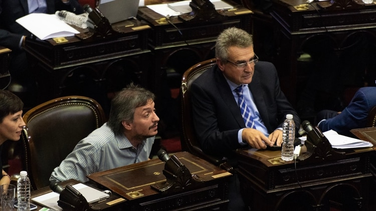 Agustín Rossi y Máximo Kirchner (Adrián Escandar)