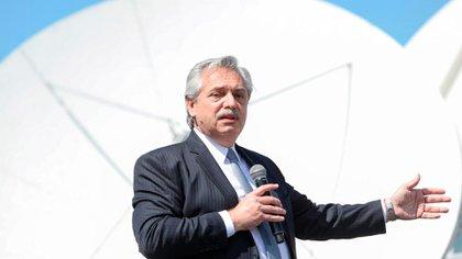 El Presidente durante el acto que encabezó en Tigre