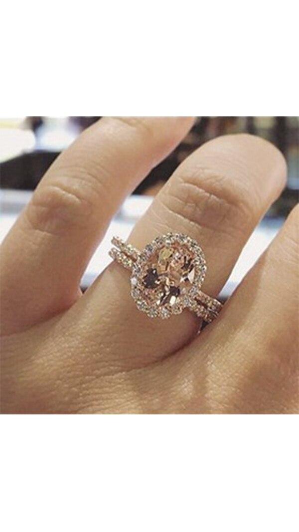 El anillo de compromiso que compartió en Instagram la hermana