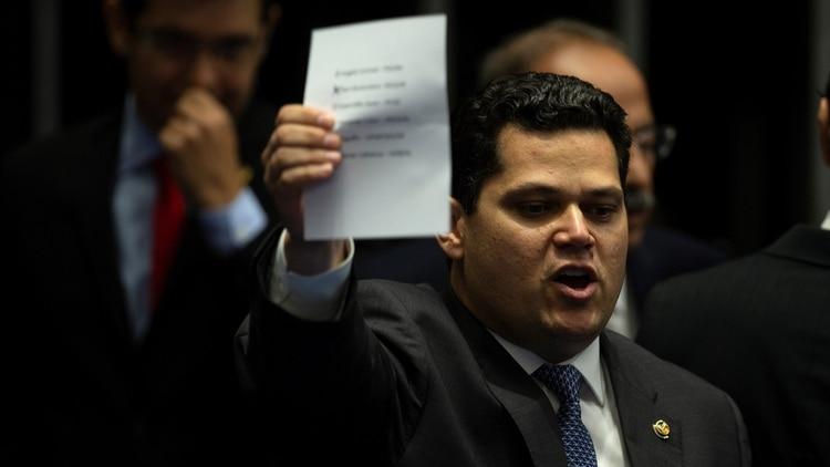 Davi Alcolumbre, presidente del Senado (EFE/ Joédson Alves)