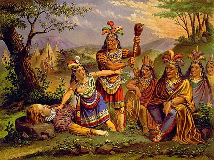 Pocahontas salvó al almirante Smith cuando iba a ser ejecutado, según relató el británico en una carta a la reina Ana