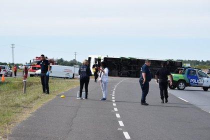 El accidente se produjo a la altura de Lezama, en el kilómetro 142