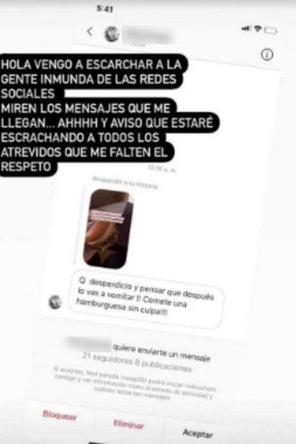 Brenda Asnicar escrachó a una seguidora (Foto: Instagram)