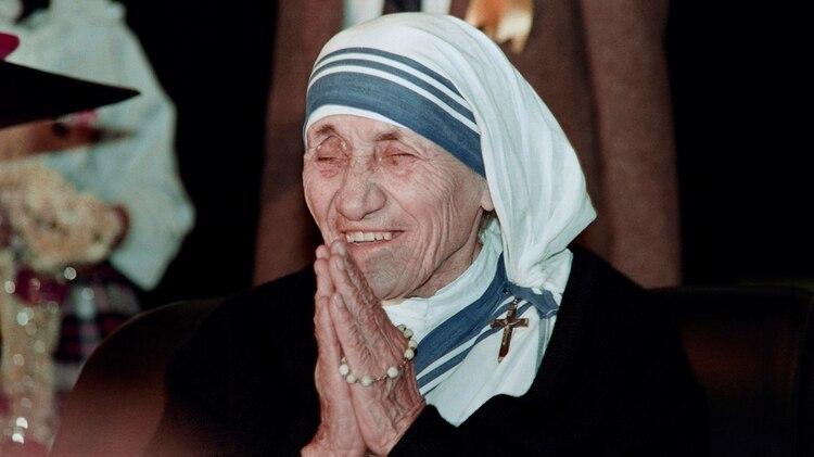 La Madre Teresa en diciembre de 1991, 6 años antes de su muerte (AFP)