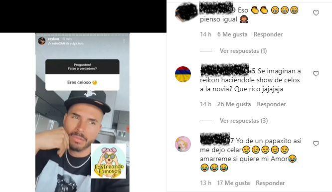 Comentarios en redes sociales sobre Reykon. Foto: Captura de pantalla