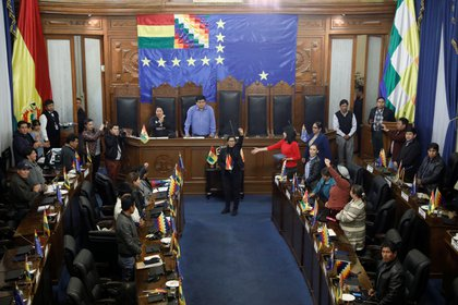 Eva Copa asumió la presidencia de la Cámara de Senadores (REUTERS/Marco Bello)