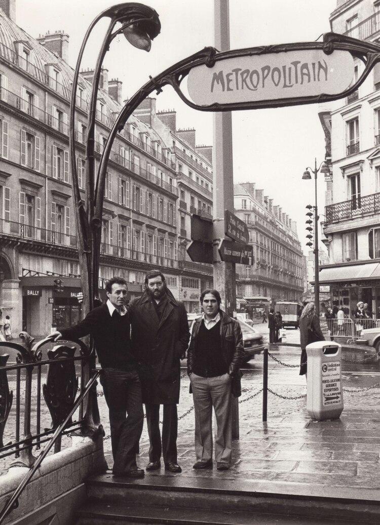 """""""Tata"""" Cedrón, Cortázar y Edgardo Cantón en 1979 (Foto: Pepe Fernández)"""