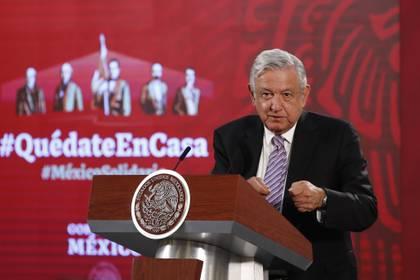 El presidente, Andrés Manuel López Obrador, participa este sábado durante una rueda de prensa matutina en Palacio Nacional de Ciudad de México.(Foto: EFE/ José Méndez)