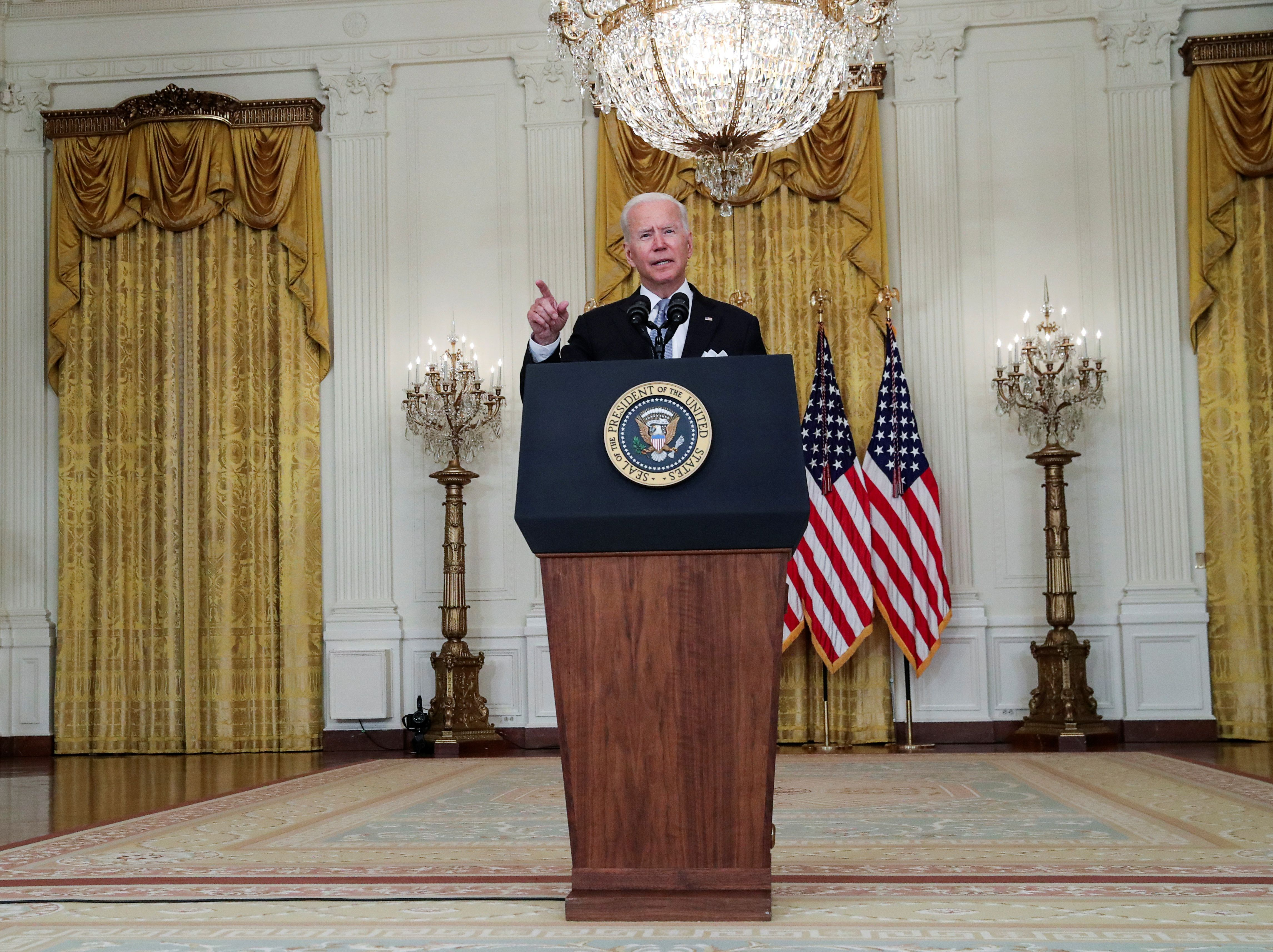 Joe Biden during his speech at the White House (Photo: REUTERS)