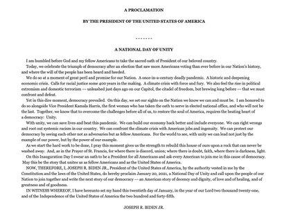 El comunicado firmado por Joe Biden