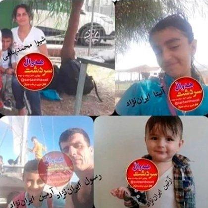En estas imágenes compartidas en redes sociales también puede verse la figura de Shiva Mohammad Panahi, madre de los tres pequeños fallecidos en el Canal de La Mancha