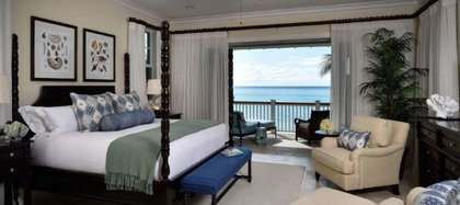 Una de las habitaciones del hotel Albany con vista al mar