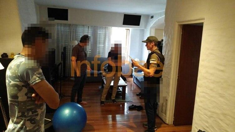 Imagen del procedimiento de Gendarmería en la casa de Russo.
