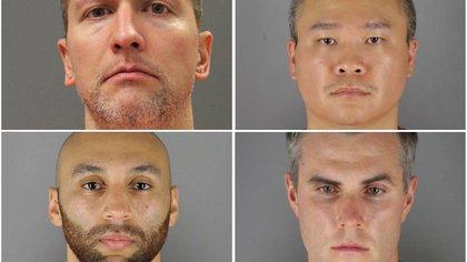Cuatro ex policías implicados en la muerte de George Floyd fueron acusados de violaciones a los derechos civiles