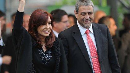 Jorge Ferraresi junto a Cristina Kirchner