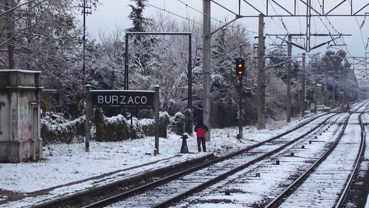 Otra postal de 2007, el día de la nevada en el conurbano bonaerense
