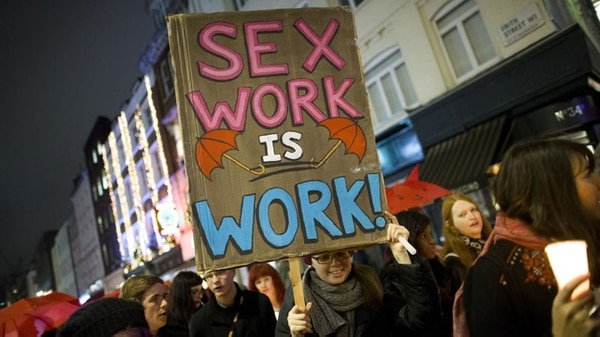 """El trabajo sexual es trabajo"" (AFP)"