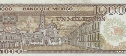 Reverso del billete antiguo de mil pesos. (Foto: tomada de internet)
