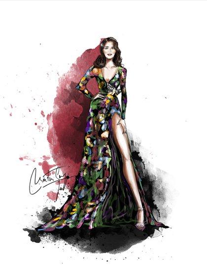 Según Martín Georg, esta ilustración de Lana del Rey by Gucci es una de las mejores que realizó hasta el momento