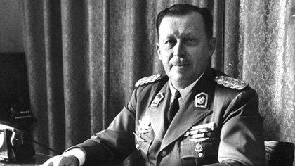 El dictador de Paraguay Alfredo Stroessner