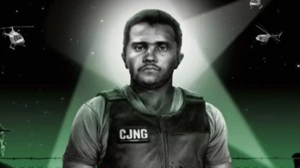 "The illustration with which the French newspaper accompanied its article on the leader of the Jalisco Nueva Generación Cartel (CJNG), Nemesio Oseguera Cervantes ""El Mencho"".  (Image courtesy Le Monde)"