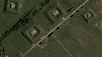 En la planta de Fabricaciones Militares de Jáchal (San Juan) hay depósitos a cielo abierto, también llamados 'canchas'.