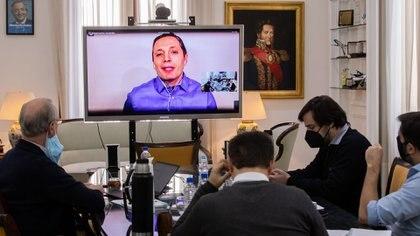 El Zoom que compartió Axel Kicillof con los intendentes del Conurbano (Mariano Sandá)