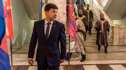El presidente de Ucrania, Volodymyr Zelensky, asumió el rol este año. (Brendan Hoffman para The New York Times)