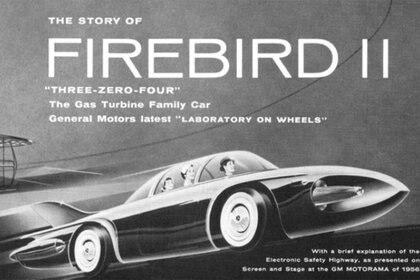 """El anuncio de la época sobre el """"laboratorio sobre ruedas de General Motors""""."""